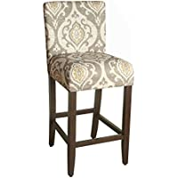 Kinfine K6858.29-A793 Suri Barstool, 29-Inch, Taupe and Cream