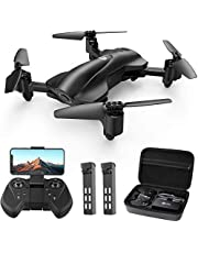 Holy Stone HS165 GPS FPV Drones with Camera for Adults 2K HD, Foldable Drone for Beginners with Auto Return Home, Follow Me, Circle Fly, Tap Fly, Includes 2 Batteries and Carrying Case