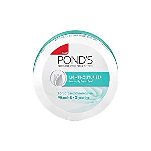 POND'S Light Moisturiser, Non- Oily With Vitamin E And Glycerine, For Soft And Glowing Skin, 150 ml