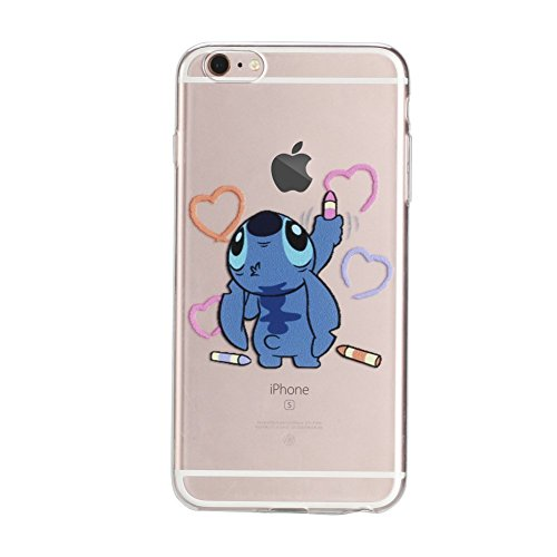 iPhone 6 Plus Case, 6s Plus Case, DOMIRE Funny Cartoon Character TPU Clear Cases Thicken Anti-Slip Good Grip Protective Case for iPhone 6 Plus 5.5 (Cartoons Characters)