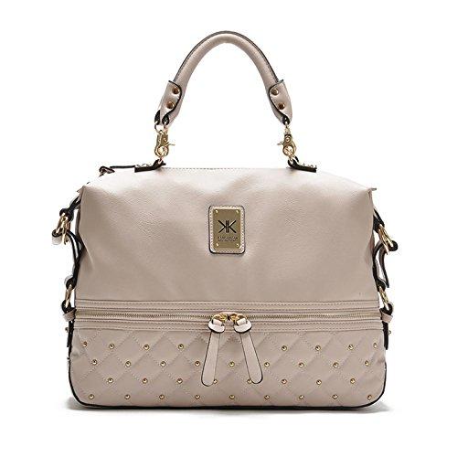 eef8575e94 Kim Kardashian Kollection KK borsa designer borsa 2016 borse donne rivetto  moda portatile donne messenger borse di alta qualità: Amazon.it: Scarpe e  borse