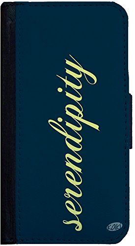Serendipity iPhone 5 Flip Case, Designed by Kaki, iPhone 5s Flip Cover, Wallet Case, Book Style Cover, Pocket Case, Bi-Fold Case, Flap Cover, by Sublifascination 350 DOES NOT FIT THE IPHONE 5C ()