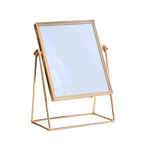 (LYXPUZI Vanity Mirror Makeup mirror desktop simple HD student dormitory square single-sided vanity mirror Cosmetic mirror)
