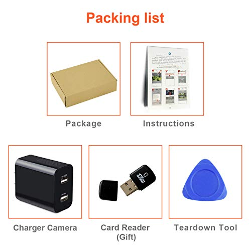 [Upgraded 2019] Spy Hidden Camera with Remote Viewing, USB Charger WiFi Nanny Camera 1080P HD H.264 with Motion Detection for Home Office Security Surveillance, No Audio by CIXI (Image #8)