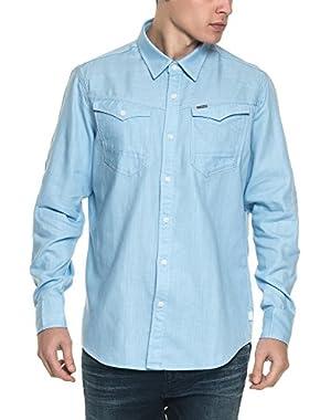 G-Star Men's Arc 3D Men's Light Blue Shirt in Size XL Light Blue