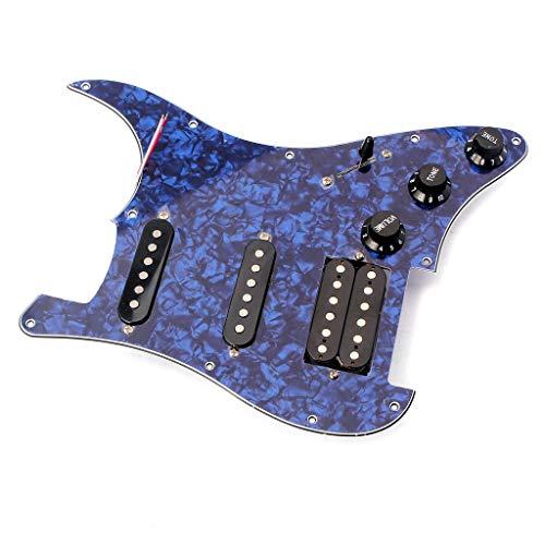 Algol - Guitar Replacement 3-ply SSH Prewired Humbucker Pickups Pick Guard Plate Set Guitar Parts Blue