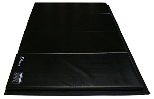 Z Athletic M-Folding-4x8x2Bk Z-Athletic Gymnastics, Tumbling, Folding Mats 4' x 8' x 2in), Black by Z-Athletic