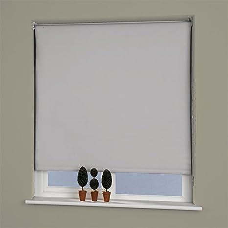 W120cm Mushroom Linens Limited Plain Thermal UV Protection Blackout Roller Blind