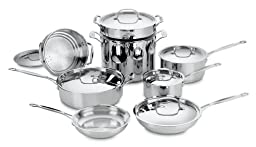 Cuisinart 77-14 Chef\'s Classic Stainless 14-Piece Cookware Set