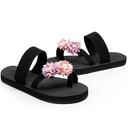 Btrada Damesmode Clip Neus Sandalen Zomer Antislip Strand Flip-flops Flats Roze-paars