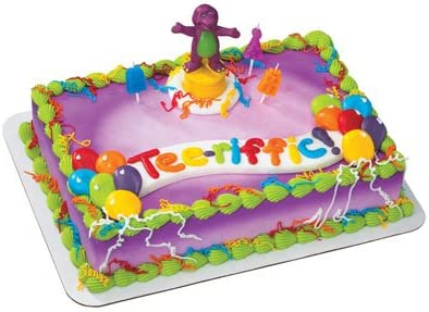 Swell Amazon Com Barney Celebration Cake Topper Home Kitchen Personalised Birthday Cards Xaembasilily Jamesorg