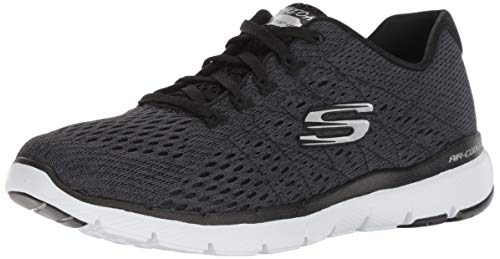 Skechers Women's Flex Appeal 3.0 Sneaker, Black/White 2, 7 M US