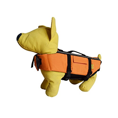 Pet Dog Lifejacket Swimming Safety Vest Reflective Jacket - Strong Buoyancy Swimsuit Lightweight Lifejacket (Small)