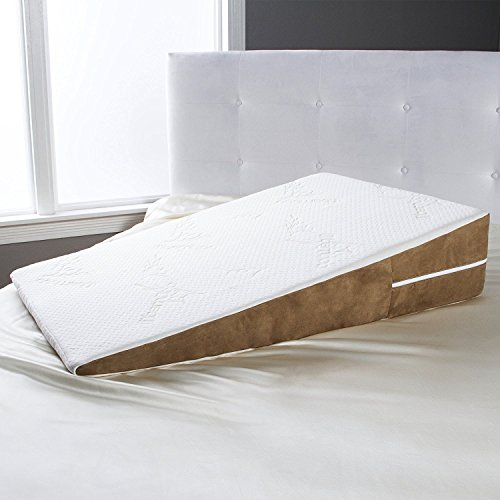 Avana Bed Wedge Memory Foam Pillow with Removable Bamboo Cov