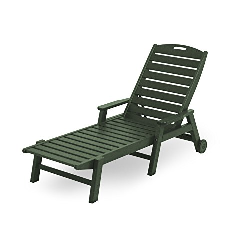Nautical Wheel Chaise Lounge (Nautical Wheel Chaise Lounge with Arms Finish: Green)