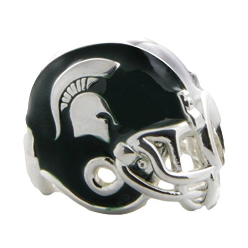 State Helmet Charm (Michigan State Charm | Michigan State Spartan Helmet Charm | Officially Licensed Michigan State Jewelry | Michigan State Charms | MSU Gifts | Stainless Steel)