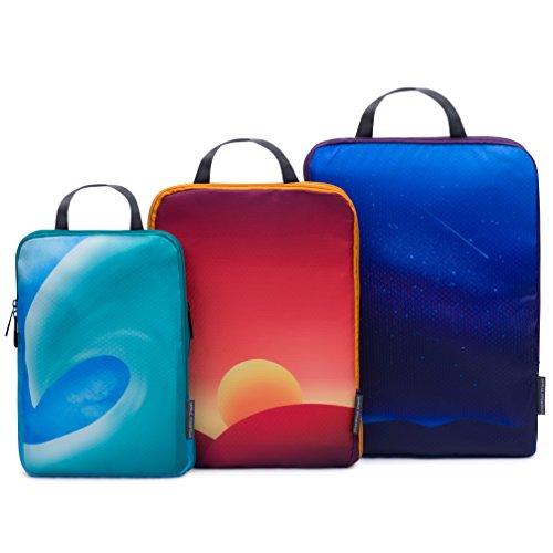 Ursa Minor Travel Compression Packing Cubes Set - Travel Luggage Organizers
