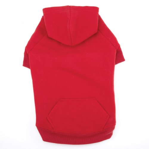 Casual Canine Cotton Basic Dog Hoodie, Medium, 16-Inch, Red, My Pet Supplies