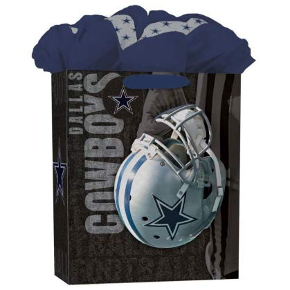 Turner Licensing Dallas Cowboys Large GoGo Gift Bag (8931018) - Nfl Wrapping Paper