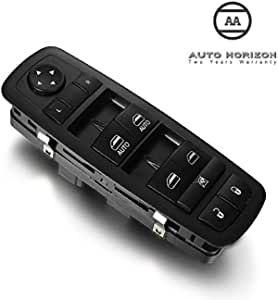 Window Master Switch Front Left Driver Side Power Control Switch with Door Lock Switch OE:68110866AB 68110866AA for 2012-16 Dodge Grand Caravan 2012-16 Chrysler Town /& Country 2012-17 Ram 1500 2500