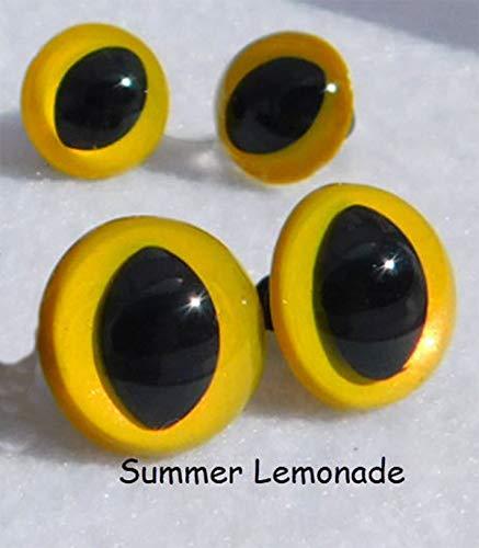 Summer Lemonade Safety Eyes Cat Eyes Sew Crochet Amiguruml Knit Dragon Frog Monster, 4 Pair (10mm) Crochet Knit Sew Craft