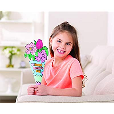 Color Your Own Mother's Day Bouquet - Crafts for Kids and Fun Home Activities: Toys & Games