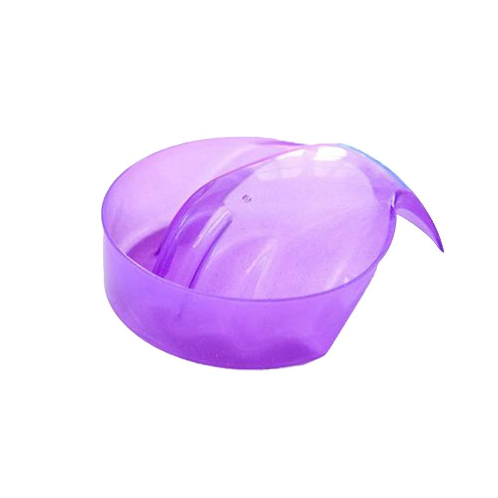 BIKITIQUE Remojo tazó n de la Mano Bandeja de uñ as Arte acrí lico UV Punta de Gel de Esmalte de manicura Cuidado Herramienta de Tratamiento