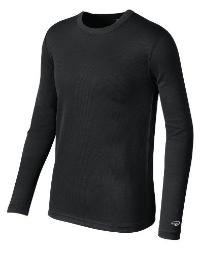 Duofold Boy's Base Weight First Layer Shirt, Black, (Duofold Long Sleeve Long Underwear)