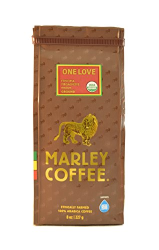 Marley Coffee, Organic One Fervour, Ethiopian YirgaCheffe, Ground Coffee, 8 Ounce