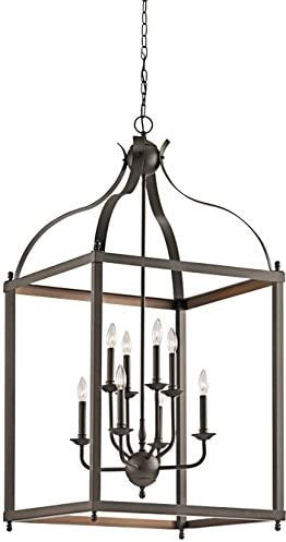 Kichler 42591OZ Larkin Foyer Chandelier 8-Light, Olde Bronze