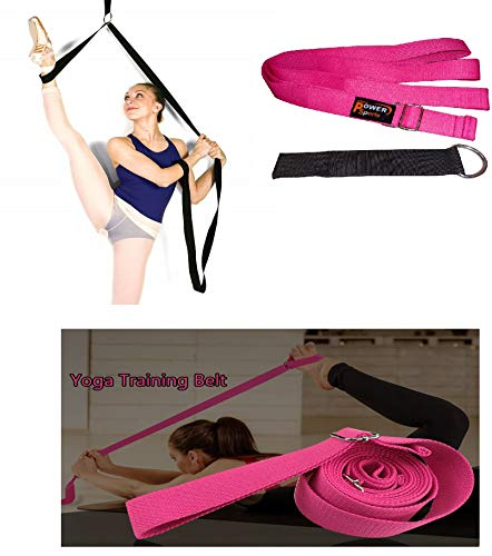 SHIHAN POWER-SPORTS Pink TAO Leg Pulley Leg Stretcher Doorway Mounted Kickboxing Martial Arts Ballet Dance Gymnastics, Stunt Training Home use for The Ultimate Stretch