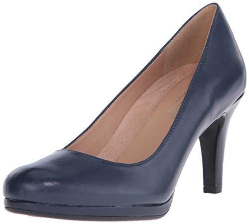 Naturalizer Women's Michelle Dress Pump, Navy Leather, 9 W US