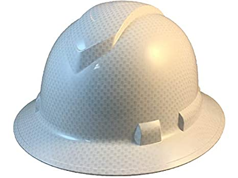 Pyramex Safety HP54116S Ridgeline Full Brim Hard Hat (Shiny White Graphite  Pattern) - - Amazon.com 304bf37396b7