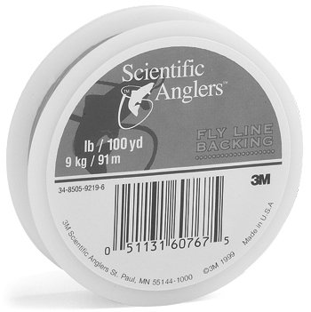 Scientific Anglers Dacron 30 -Pounds Test Fly Line Backing (White, 100 Yards), Outdoor Stuffs