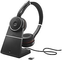 Jabra Evolve 75 MS Stereo Diadema Audífono Wired/Bluetooth Negro, Rojo Audífono para móvil - Audífonos (Audífono, Diadema, Negro, Rojo, Digital, Wired/Bluetooth, Bluetooth)