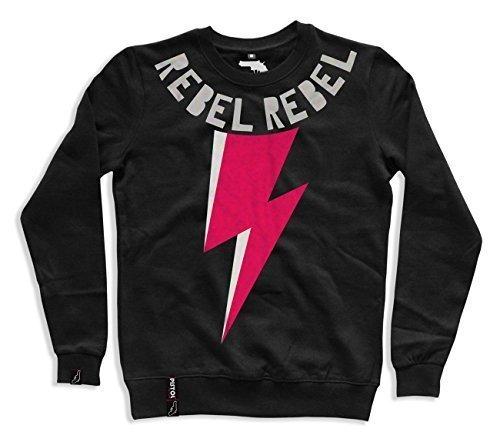 Pistol Boutique Herren Schwarz rebellierend rebellierend Bowie lighteing Klassisch Pullover Pulli