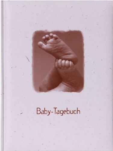 HENZO Baby-Tagebuch - FÜßE - Babytagebuch mit 44 illustrierten Seiten - Baby Fotoalbum - Buch zur Geburt oder Taufe