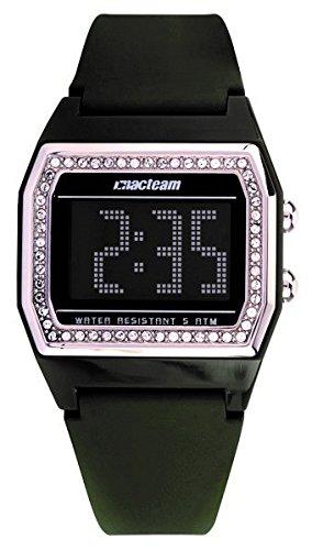 Altanus - Reloj digital con correa de goma verde militar y caja con Swarovsky Altanus 7923-vb: Amazon.es: Relojes