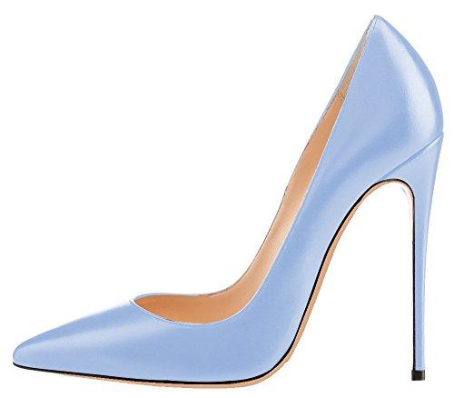 Stilettos Escarpins Chaussures Clair Grande Ubeauty Femme Aiguille Bleu Taille Talon Femmes Talons HtnwdWda7