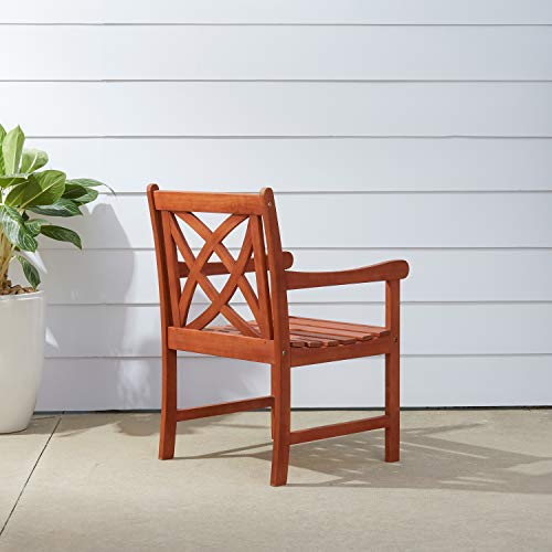 Vifah V1495 Outdoor Eucalyptus Patio Armchair