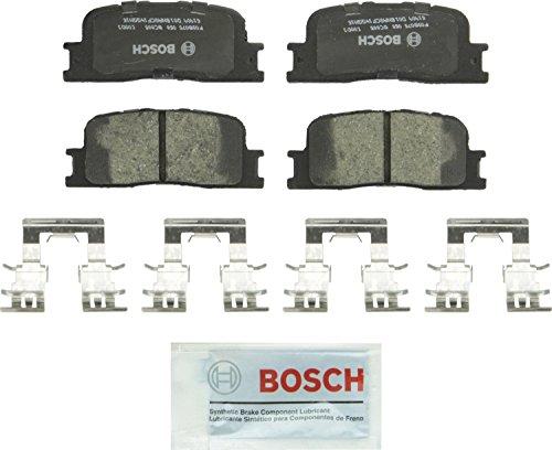 Bosch BC885 QuietCast Premium Ceramic Disc Brake Pad Set For: Lexus ES300, ES330; Toyota Camry, Highlander, Rear ()