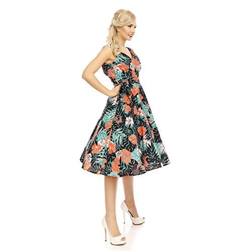 b36c9df5e 50%OFF Looking GLAM Mujer Retro Vintage Rockabilly pin- Up Vestido Con Vuelo  fiesta