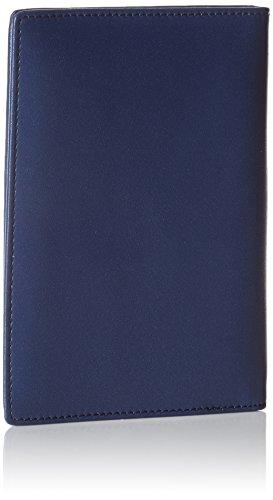 AmazonBasics Leather RFID Blocking Passport Holder Wallet - 6 x 4 Inches, Navy