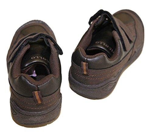 Turnschuhe Junge Kunstleder Verschluss aus 2 Scratch Schuhgrößen 28 die 35 Braun