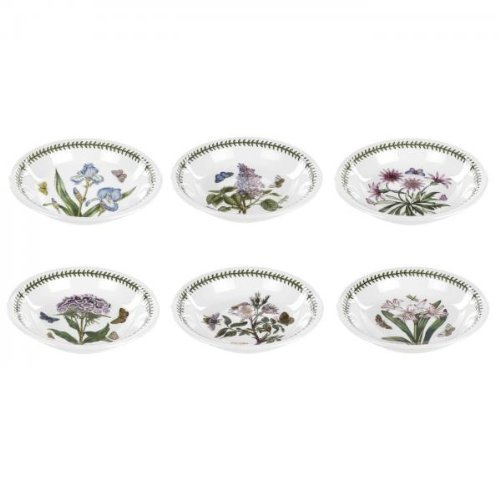 Portmeirion Botanic Garden Pasta Bowls, Set of 6 Assorted Motifs