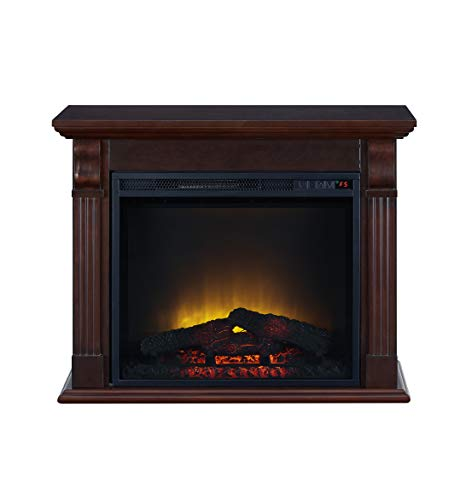 Cheap Electric Fireplace in Chestnut - Fireplace - Fireplace Led and Timer - Fire Place Decorations for Living Room - Electric Fireplace TV Stand Freestanding - Room Heater Black Friday & Cyber Monday 2019