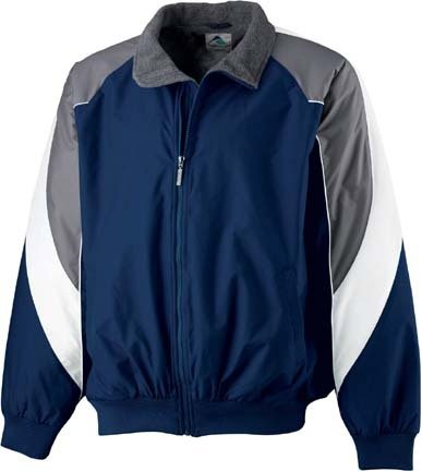 Youth Tri-Color Fleece Lined Nylon Jacket from Augusta Sportswear ()