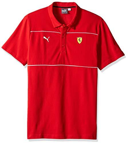 - PUMA Men's Standard Scuderia Ferrari Polo, Soft Pink Rosso Corsa, M
