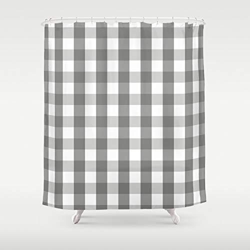 Warm Gray Plaid Shower Curtain | Warm Grey & White Plaid | Timeless Bath Decor | Custom Bath Decor | New Home Gift