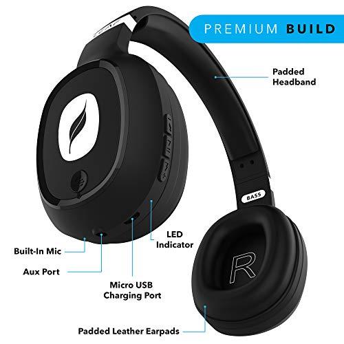 black leaf earphones wireless